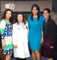 ABC7 Stacey Baca with NutriMedicos Dra. Estella Hernandez and Amate Ahora Health Expo