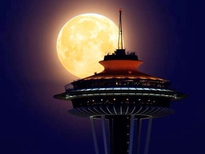 supermoon space needle 1