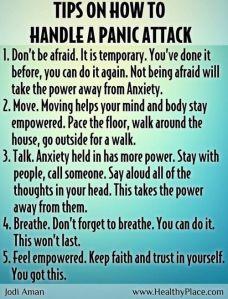 Manage Panic Attacks