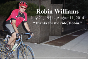 Robin Williams Part of the Cycling Community